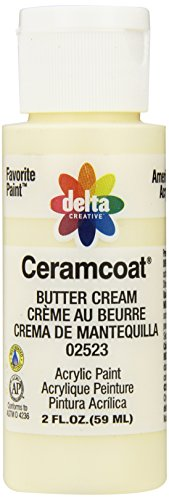 Delta Creative Ceramcoat Acrylic Paint in Assorted Colors (2 oz), 2523, Buttercream