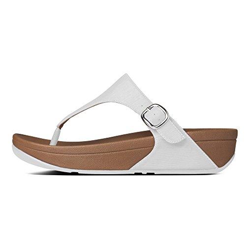 FitFlop The Skinny- Sandalias para mujer (Urban White) Beige, talla 39