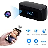 Hidden Camera Clock WIFI Spy Camera HD 1080P Wireless Nanny Cam for Home Security Surveillance Camcorder Mini Video Recorder with Motion Detection Alarm Night Vision Remote View