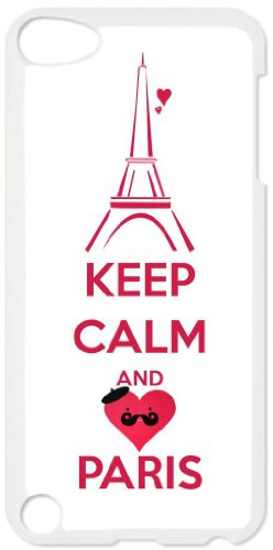 Keep Calm and Love Paris - White plastic snap on case - for the Apple iPod iTouch 4th Generation.
