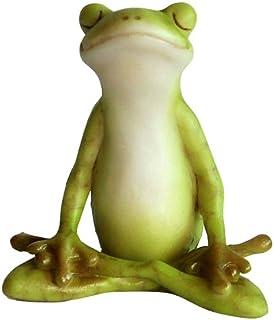 Amazoncom Sitting Yoga Frog Statue Patio Lawn Garden