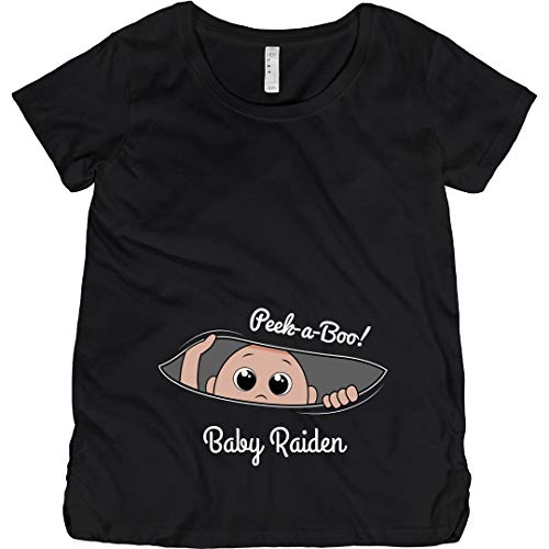 Peek A Boo Baby Raiden: Maternity Cotton T-Shirt