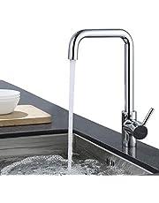 ubeegol 360° Drehbar Wasserhahn Küche Amatur Küchenarmatur Spültischarmatur Spülarmatur Spültisch Mischbatterie Spülbecken Küchenspüle, Glänzend