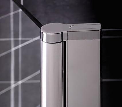 massG 6 mm cristal de seguridad templado cromado mampara de baño ...