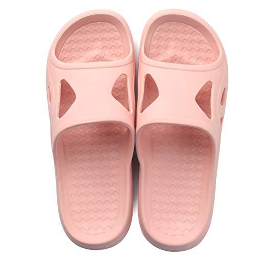 Mot 36 Couple Anti Sandales de Pink Taille 37EU Maison Bains été Glisser modèles Couleur Glisser Salle Pink féminins dérapant intérieure Douce AMINSHAP Pantoufles lumière aqE1FF