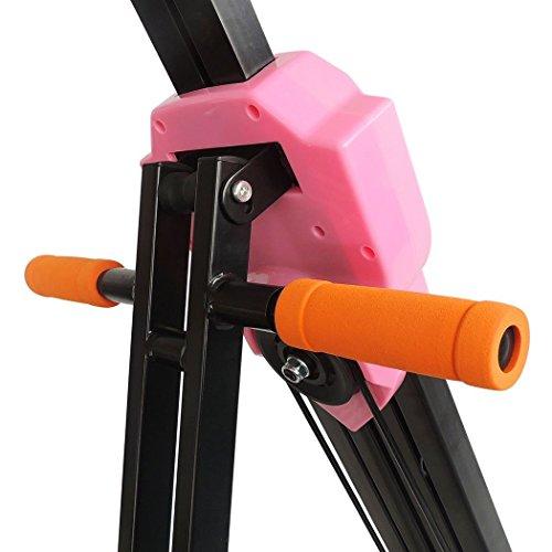 Fashine Vertical Climber Foldable Fitness Climbing Equipment Stepper Exercise Bike for Home Gym Body Exercise(US Stock)
