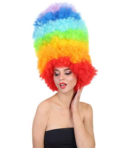 Halloween Party Online Neon Jumbo Rainbow Afro Wig HW-083 -