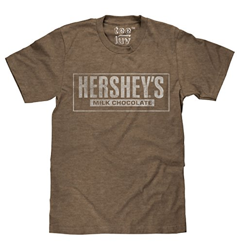 Hershey's Milk Chocolate Licensed T-Shirt | Poly Cotton Blend | Classic (Chocolate Lovers Milk)