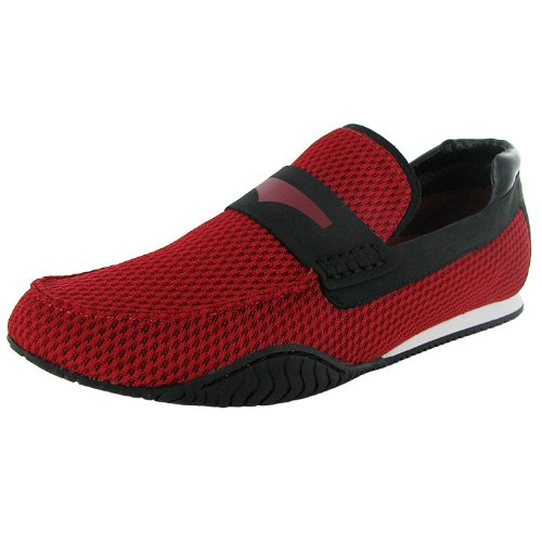 Donald J. Pliner Mens 'Dulse-PC03' Loafer Shoe, Tomato/Black, US 13