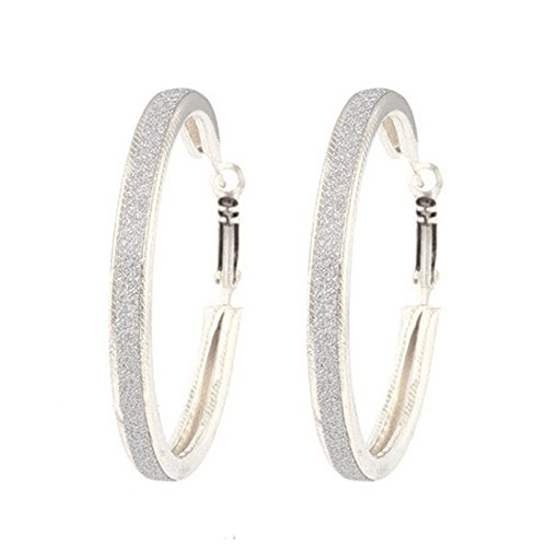 (Redvive Top 1Pair Women Alloy Grind Arenaceous Annulus Dangle Earings Eardrop Jewelry)