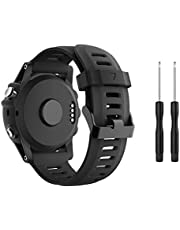TOPsic Kompatibel Garmin Fenix 3 klockrem, silikon ersättningsband armband för Garmin Fenix 3/Fenix 3 HR/Fenix 5X GPS smart klocka flera färger