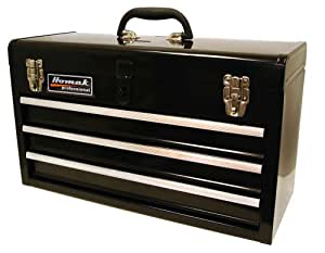 Homak BK01032101 3-Drawer Tool Box/Chest, Black