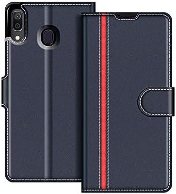 COODIO Funda Samsung Galaxy A20 con Tapa, Funda Movil Samsung A20 6.4 Pulgadas, Funda Libro Galaxy A20 Carcasa Magnético Funda para Samsung Galaxy A20, Azul Oscuro/Rojo: Amazon.es: Electrónica
