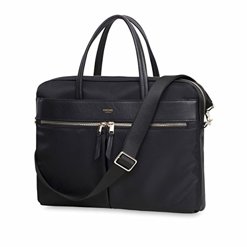 Knomo Luggage Women's Hanover Briefcase, Black, One Size