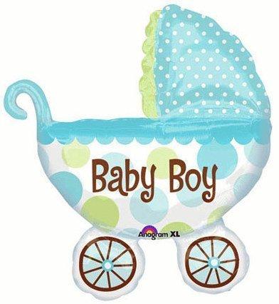 Amazoncom Baby Boy Large 31 Jumbo Baby Buggy Mylar Foil Balloon