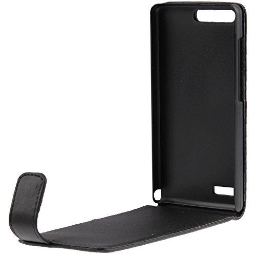 Mxnet Funda de cuero vertical Flip para Huawei Ascend G6-T00 3G / P6 mini Fundas