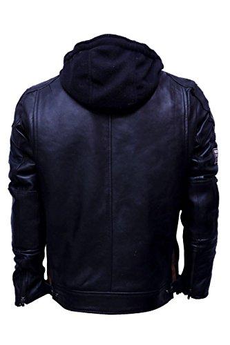 Uomo Wax S Da 283 Nero Giacca 58 Taglia Urban Leather Rosso Ur nwYCS88q