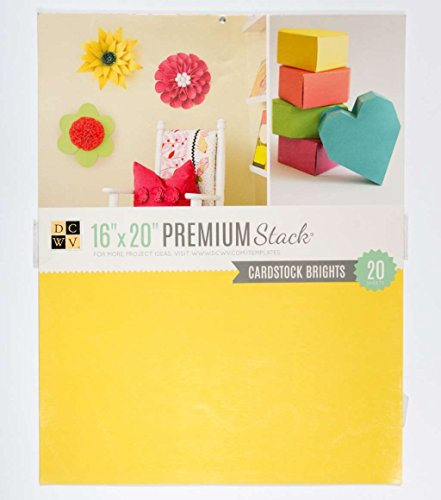 American Crafts Die Cuts With A View 16'' x 20'' Premium Mat Stack - Bright Cardstock - 25 Sheets by DCWV