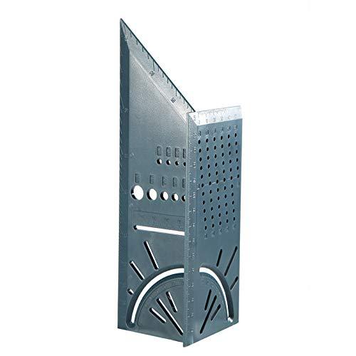 Liamostee 3D-Gehrungswinkel-Messquadrat-Gr??enmesswerkzeug mit Messlineal