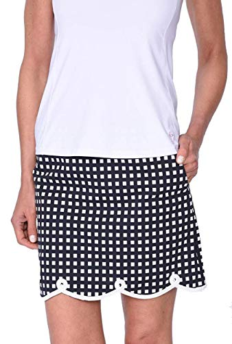 (The Ace Stretch Cotton Skort (Comes in 2 Lengths) Black)