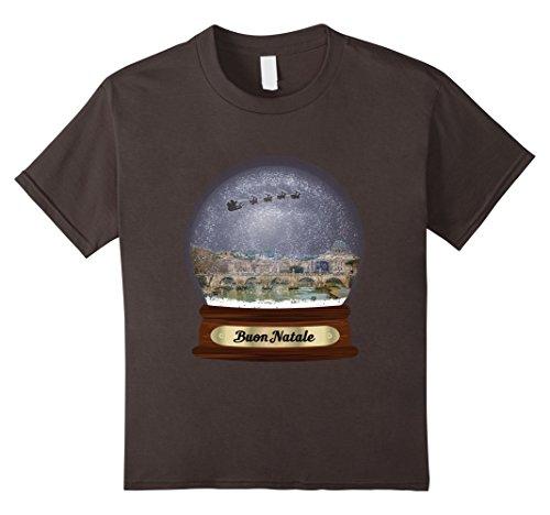 Kids Buon Natale Snowdome Rome Shirt 12 Asphalt