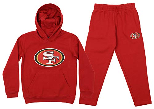 Outerstuff NFL Youth Team Color and Fleece Hoodie Set, San Francisco 49ers Small 8
