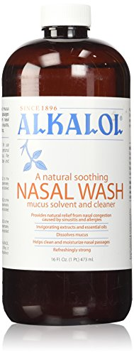 Alkalol Nasal Wash (Alkalol Company Mucus Solvent and Cleaner, 16 Fluid)