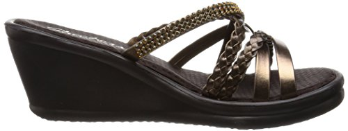 Skechers Cali Women's Rumbers-Wild Child Wedge Sandal,Bronze Rhinestone,9 M US by Skechers (Image #7)