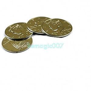 Jumbo Half Dollar Shells 3 + 1 Set - Coin&Money Magic