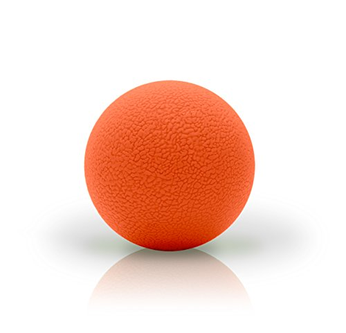 321 STRONG Single Lacrosse Style Massage Ball, Orange - with Bonus eBook