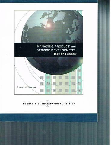 Managing Product and Service Development: Texts and Cases