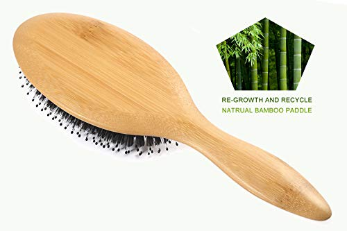 Buy hair brush to distribute oil