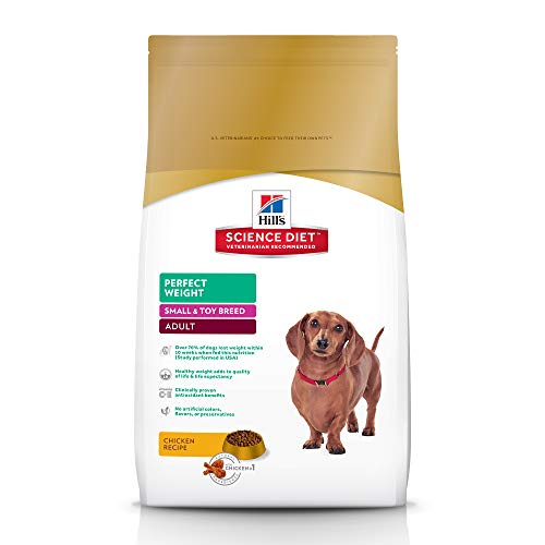 Hill's Science Diet Adult Perfect Weight Small & Mini Chicken Recipe Dry Dog Food, 4 lb bag