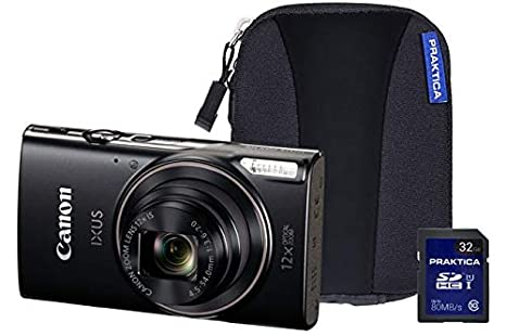 Canon IXUS 285 HS Black Camera Kit Inc 32GB SD Card and Case ...