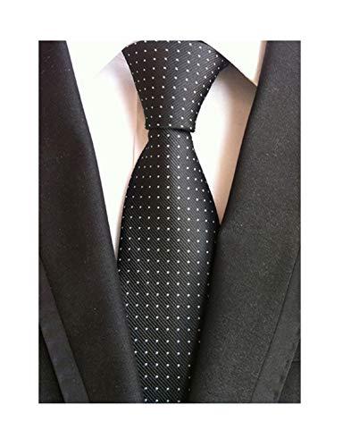- Men's Black Pin Dot Party Woven Ties Repp Elegant Banquet Formal Prom UK Necktie