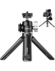 ULANZI U-Vlog Aluminum Vlog Tripod w Cold Shoe Mount Handle Grip for Canon G7X Mark III M6 Mark II Sony RX100 VII A6400 A6100 A6600 Compact Cameras Mounting Microphone Vlogging