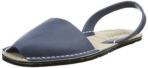 Solillas Navy Leather Original, Sandalias con Correa de Tobillo para Hombre Azul (Navy Nor)