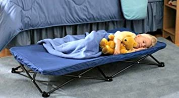 more photos c4cee b3818 ArtMuseKits Kids, Child Size, Toddler, Portable, Travel Sleeping Cot (Blue)
