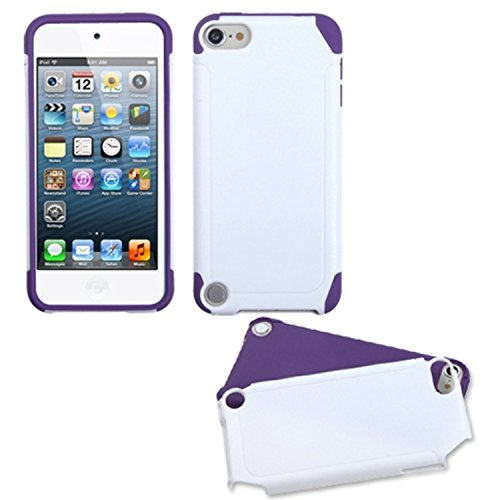 Ipod Touch Faceplates (Asmyna White/Electric Purple Frosted Fusion Protector Cover for iPod touch 5)