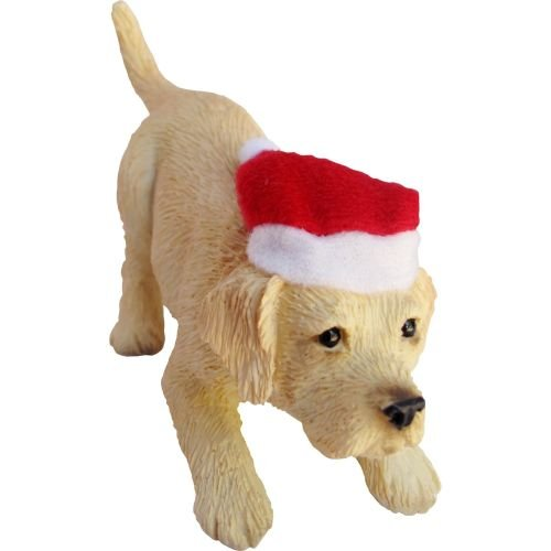 Sandicast Yellow Labrador Retriever with Santa