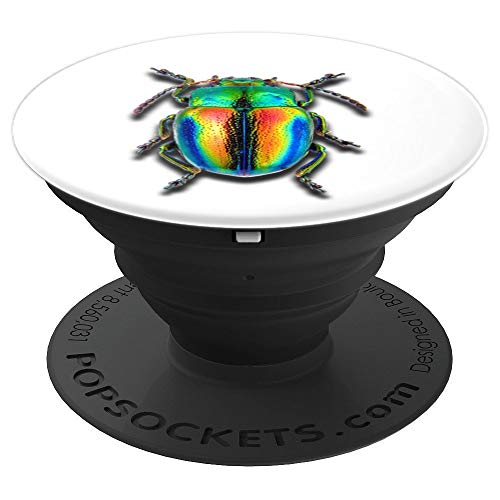 Realistic Dung Beetle Super Duper Colorful - PopSockets Grip and Stand for Phones and Tablets