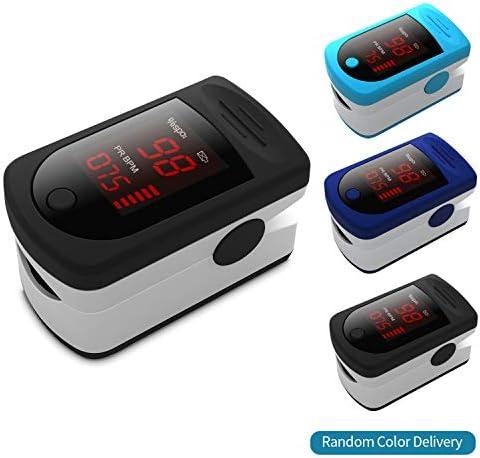 Blusea Saturimetro da Dito Pulsiossimetro Ossimetro Portatile per Dito Digital OLED Display Fingertip Pulse Oximeter Blood Oxygen Sensor Saturation SpO2 Monitor, 1 Confezione, Colore Casuale