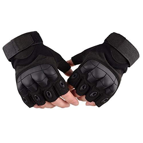 Selighting Gants Tactiques Demi Doigts Gants Moto Anti-dérapant Gants de Militaire d'armée pour Adulte (Noir, XL) 5