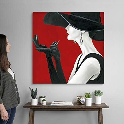 Haute Chapeau Rouge II Canvas Wall Art Print