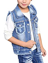 HomeToy Boys Lapel Solid Color Vest Cardigan Children Vest Burr Jacket