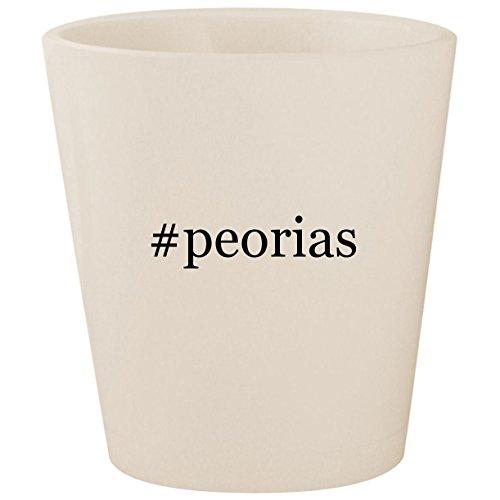 #peorias - White Hashtag Ceramic 1.5oz Shot -