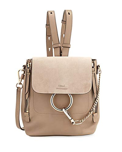419b2b4fc201 Amazon.com  Chloe Faye Small Leather Suede Backpack made in Italy  Shoes