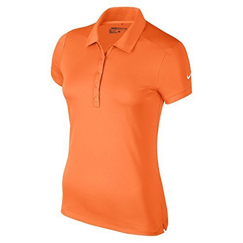 NIKE Victory Solid Golf Polo 2017 Women Bright Mandarin/White X-Small