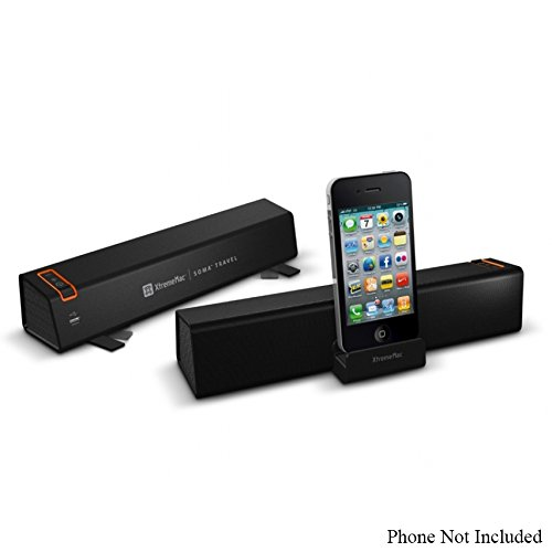 Xtrememac Soma Travel Portable Stereo Speaker For iPod,Iphone,Ipad, 30-PIN Dock (Certified )