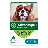 Advantage II Flea Treatment for Medium Dogs weighing 4.6 kg to 11 kg (10 lbs. to 24 lbs.)